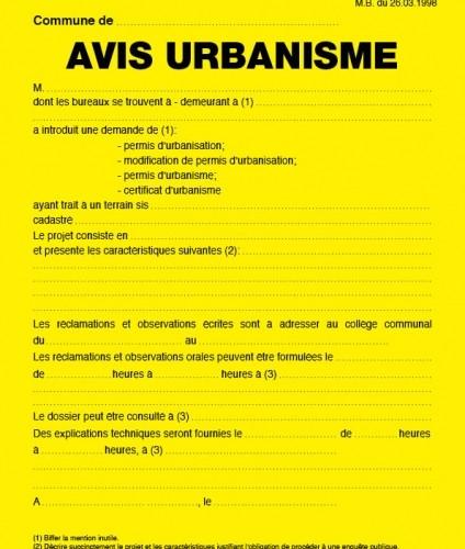 image: AVIS D'URBANISME